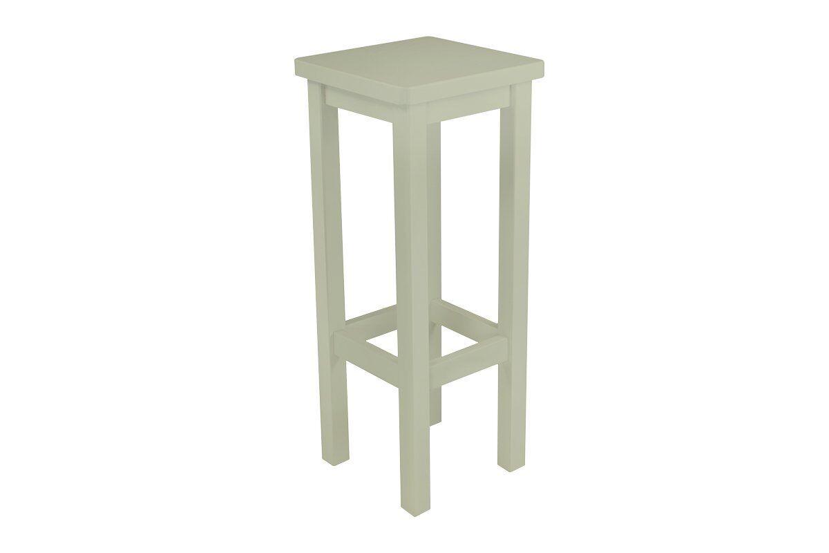 Abc meubles - tabouret de bar droit bois made in france moka