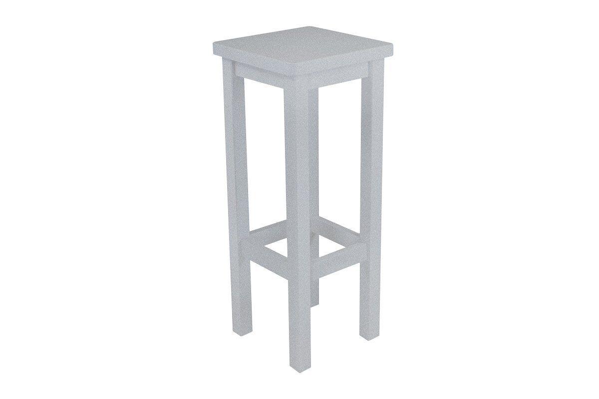Abc meubles - tabouret de bar droit bois made in france gris aluminium