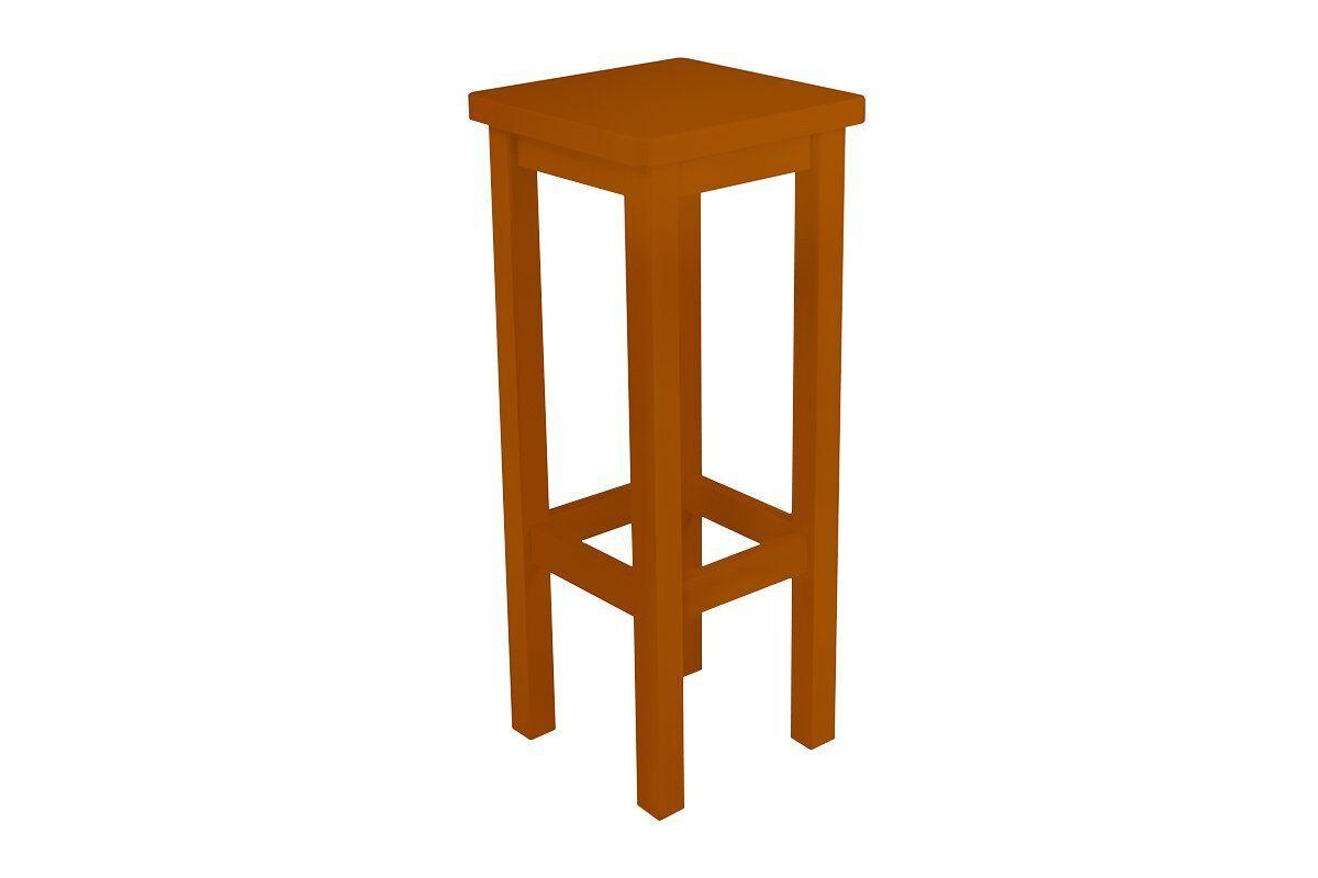 Abc meubles - tabouret de bar droit bois made in france chocolat