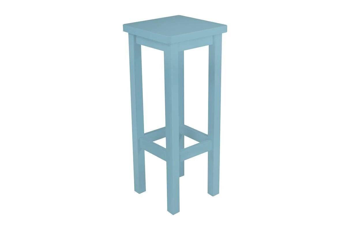 Abc meubles - tabouret de bar droit bois made in france bleu pastel