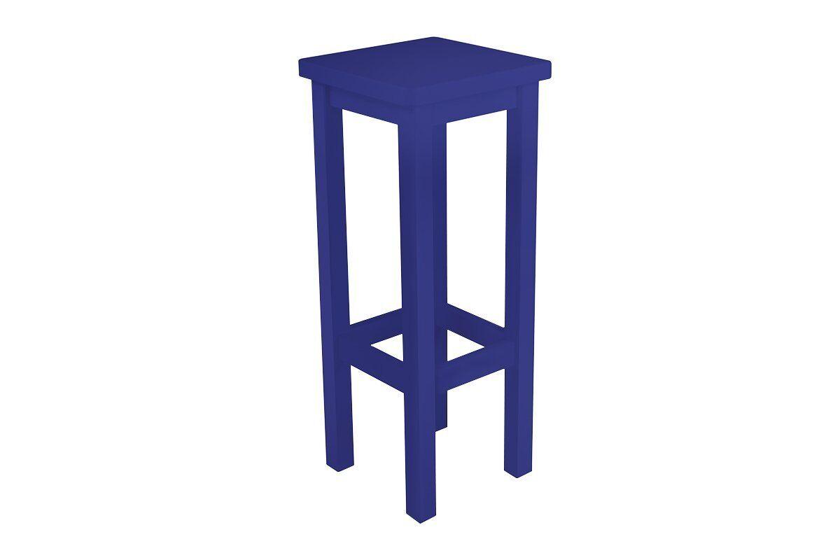 Abc meubles - tabouret de bar droit bois made in france bleu foncé