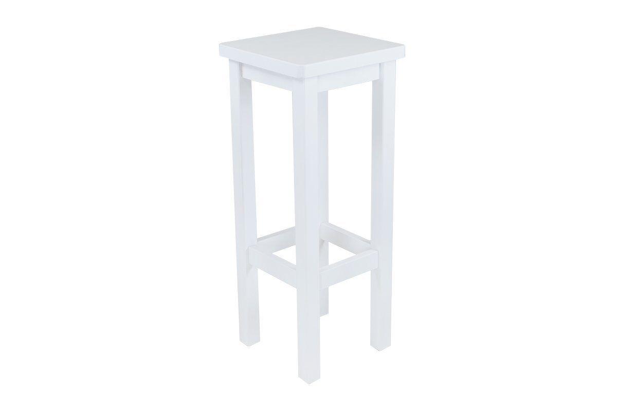 Abc meubles - tabouret de bar droit bois made in france blanc