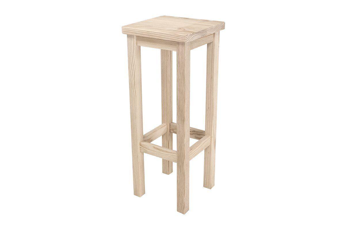 Abc meubles - tabouret de bar droit bois made in france brut