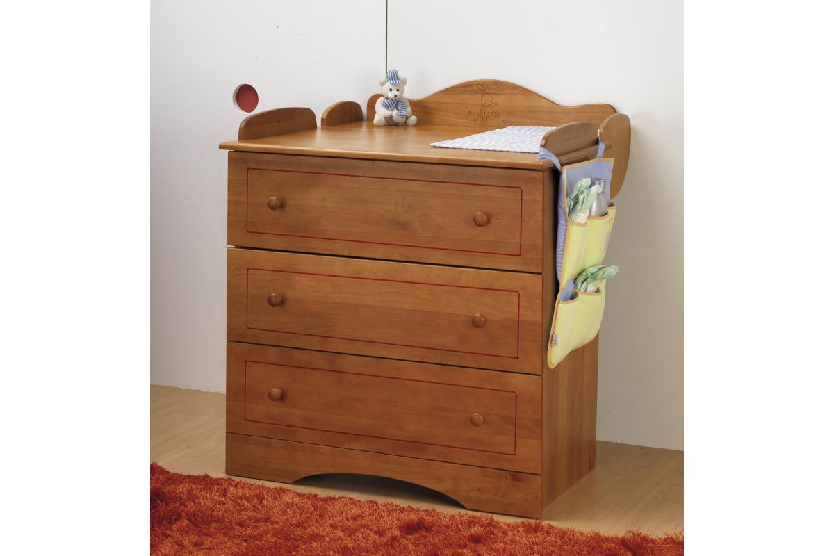 Abc meubles - commode kangourou + table à langer miel