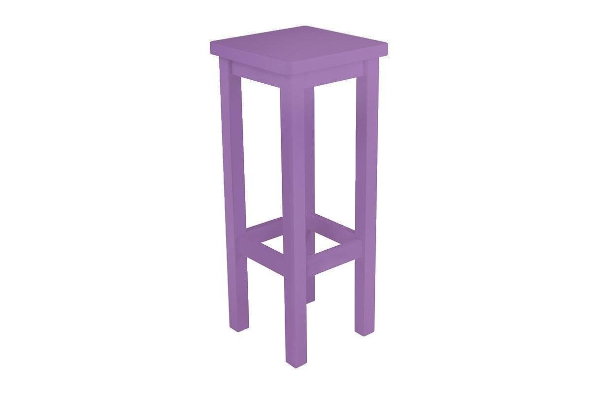Abc meubles - tabouret de bar droit bois made in france lilas
