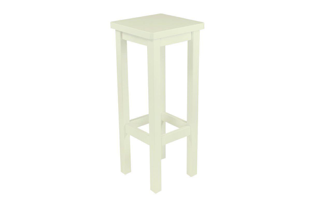 Abc meubles - tabouret de bar droit bois made in france ivoire