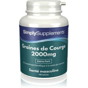 Simply Supplements Graines de Courge 2000mg - 180 Gélules - Publicité