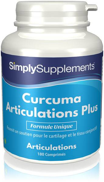 Simply Supplements Curcuma Articulations Plus - 180 Comprimés