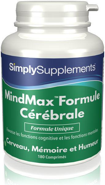 Simply Supplements MindMax - Formule Cérébrale - 180 Comprimés