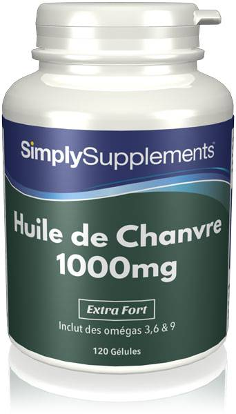 Simply Supplements Huile de Chanvre  - 120 Gélules