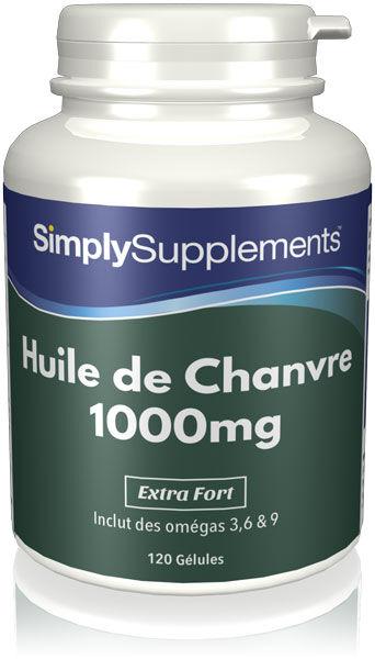 Simply Supplements Huile de Chanvre  - 120 Gélules