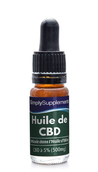 Simply Supplements Huile d'Olive et CBD 500mg (5%) - 10 ml