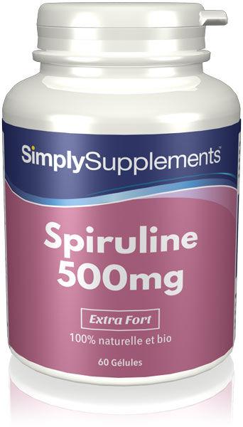 Simply Supplements Spiruline 500mg - 60 Gélules