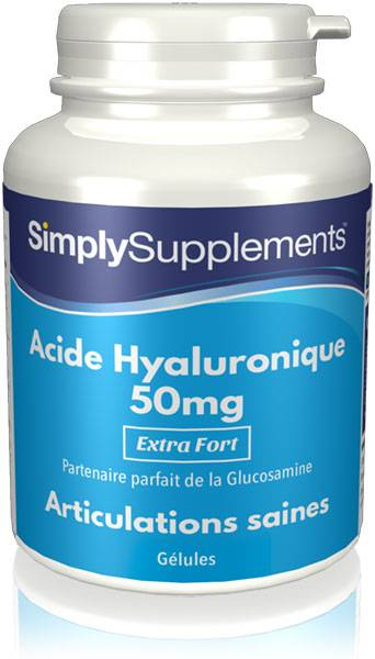 Simply Supplements Acide Hyaluronique 50mg - 180 Gélules