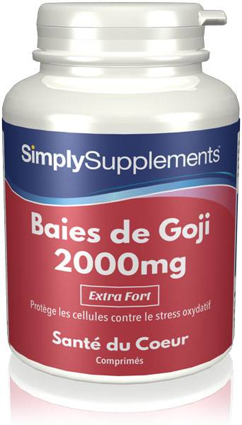 Simply Supplements Baie de Goji 2000mg - 360 Comprimés