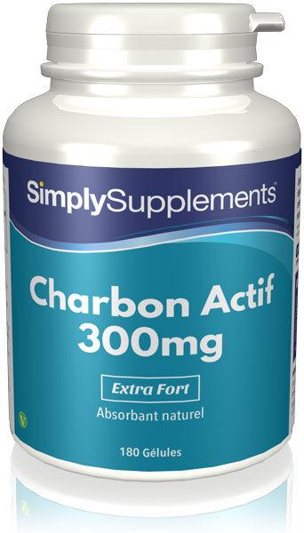 Simply Supplements Charbon Actif 300mg - 180 Gélules