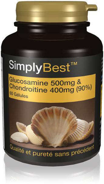 Simply Supplements Glucosamine 500mg & Chondroïtrine 400mg (90%) SB - 60 Gélules