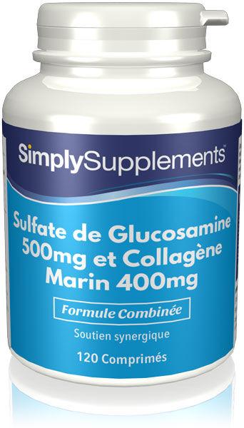 Simply Supplements Glucosamine 500mg & Collagène Marin 400mg - 240 Comprimés