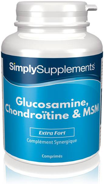Simply Supplements Glucosamine, Chondroïtine & MSM - 120 Comprimés