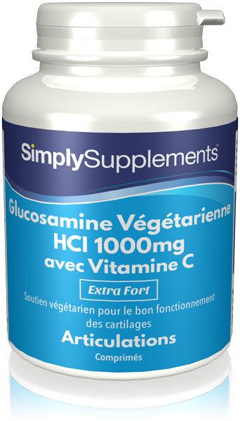 Simply Supplements Glucosamine HCl végétarienne 1000mg - 120 Comprimés