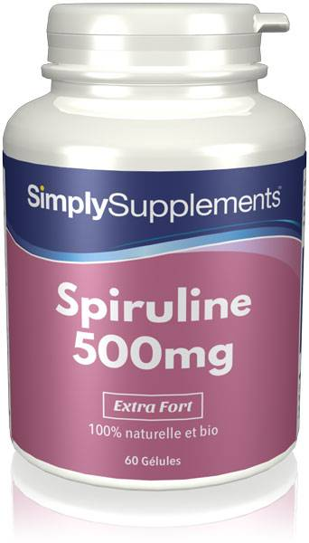 Simply Supplements Spiruline 500mg - 60 Gélules