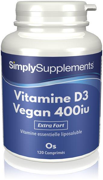 Simply Supplements Vitamine D3 Végane 400 iu - 120 Comprimés