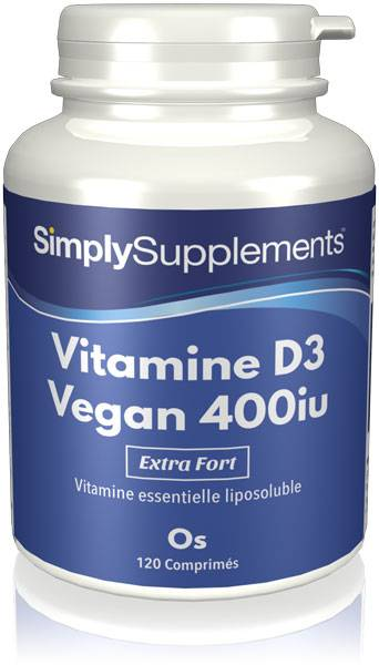 Simply Supplements Vitamine D3 Végane 400 iu - 120 Comprimés