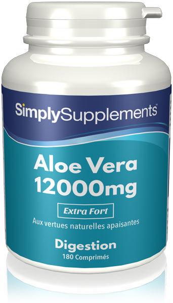 Simply Supplements Aloe Vera 12,000mg - 180 Comprimés