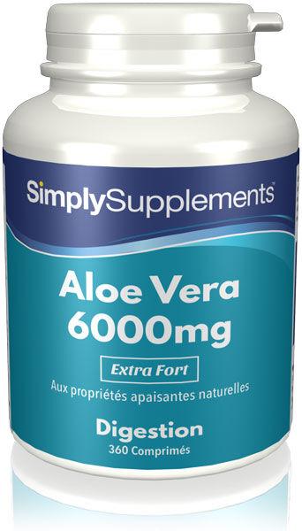 Simply Supplements Aloe Vera 6000mg - 360 Comprimés