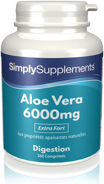 Simply Supplements Aloe Vera 6000mg - 360 Comprimés