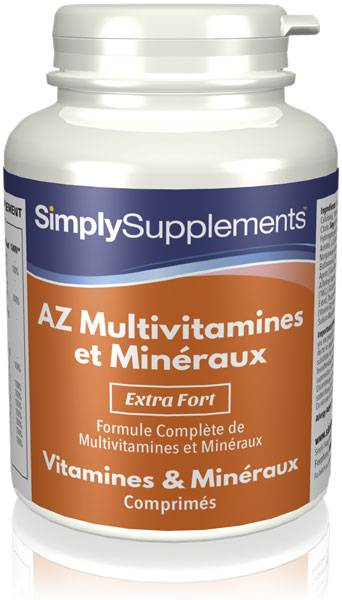 Simply Supplements AZ Multivitamines et Minéraux - 120 Comprimés