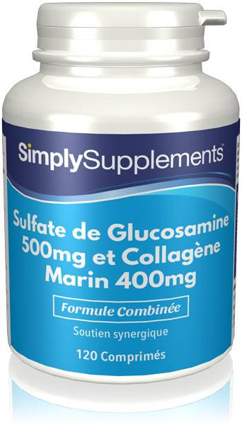 Simply Supplements Glucosamine 500mg & Collagène Marin 400mg - 240 Comprimés