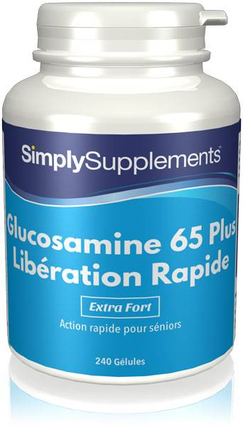 Simply Supplements Glucosamine 65 Plus Libération Rapide - 240 Gélules