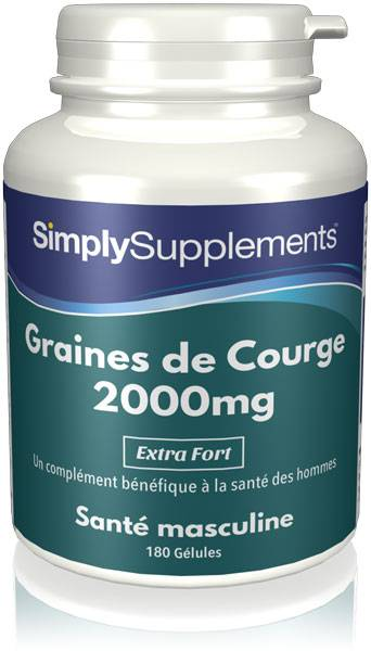 Simply Supplements Graines de Courge 2000mg - 180 Gélules
