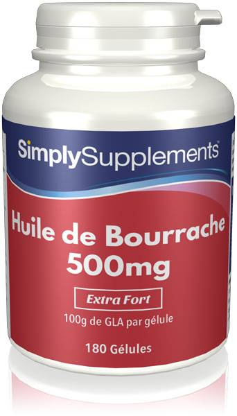 Simply Supplements Huile de Bourrache 500mg - 360 Gélules