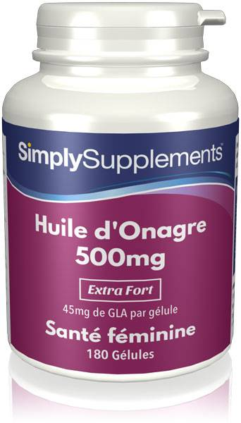 Simply Supplements Huile d'Onagre 500mg - 360 Gélules