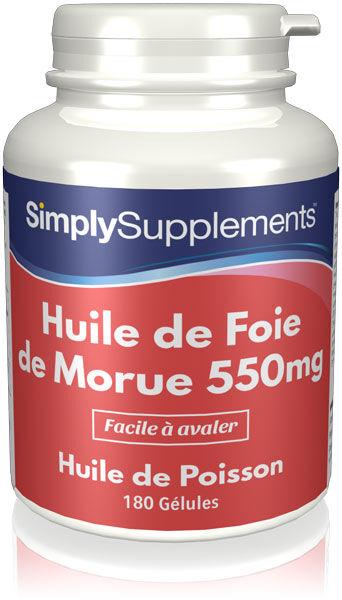 Simply Supplements Huile de Foie de Morue 550mg - 360 Gélules