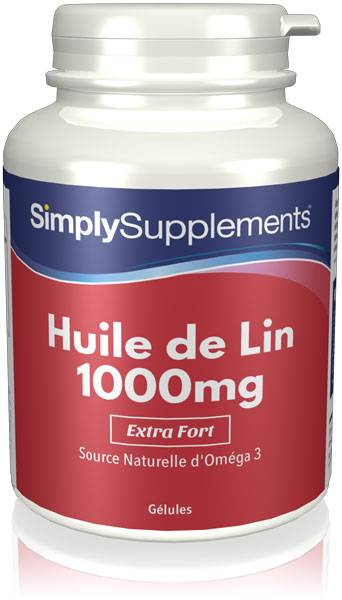 Simply Supplements Huile de Lin 1000mg - 360 Gélules