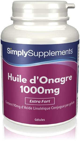 Simply Supplements Huile d'Onagre 1000mg - 360 Gélules
