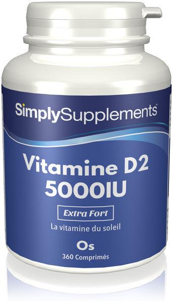 Simply Supplements Vitamine D2 5000iu - 360 Comprimés