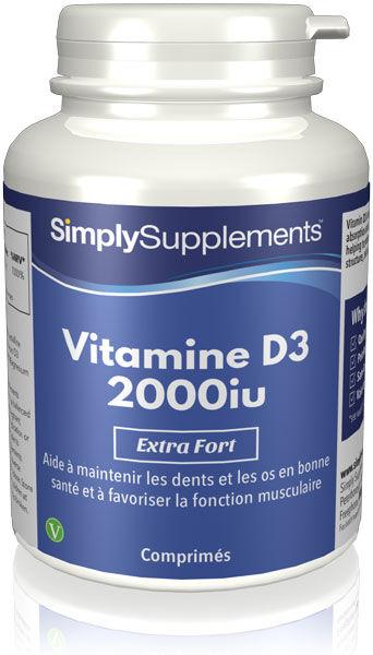 Simply Supplements Vitamine D3 2000iu - 360 Comprimés