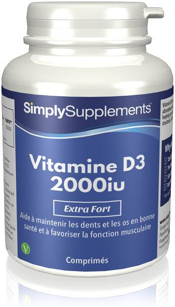 Simply Supplements Vitamine D3 2000iu - 120 Comprimés