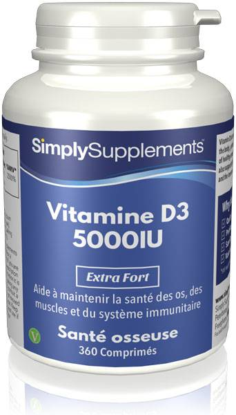 Simply Supplements Vitamine D3 5000iu - 360 Comprimés
