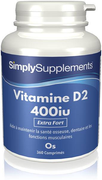 Simply Supplements Vitamine D 400iu - 360 Comprimés