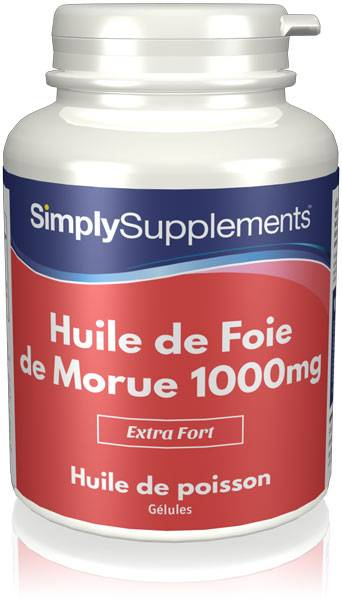 Simply Supplements Huile de Foie de Morue 1000mg - 360 Gélules