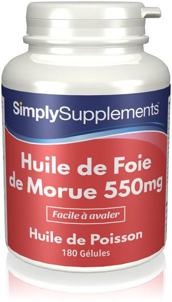 Simply Supplements Huile de Foie de Morue 550mg - 360 Gélules
