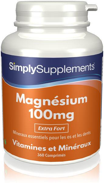 Simply Supplements Magnésium 100mg - 360 Comprimés