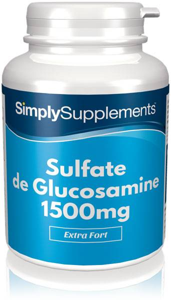 Simply Supplements Sulfate de Glucosamine 1500mg - 240 Gélules