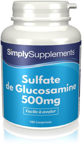 Simply Supplements Sulfate de Glucosamine 500mg - 360 Comprimés