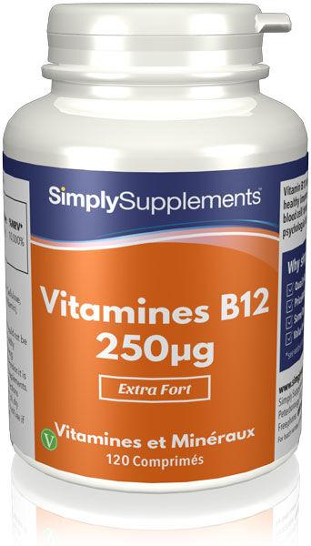 Simply Supplements Vitamine B12 250mcg - 120 Comprimés